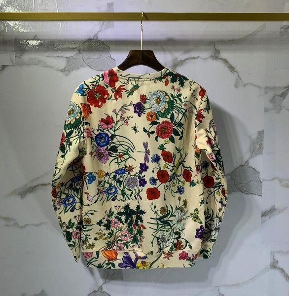 2019 i migliori nuovi arrivi moda autunno designer Marchio abbigliamento uomo grandi lettere fiori stampa felpe pullover con cappuccio in cotone felpa casual