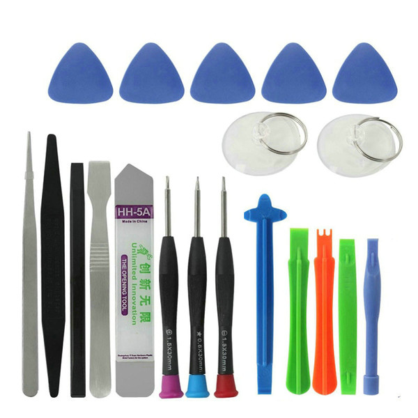 20 in 1 Mobile Phone Repair Tools Set Kit Spudger Pry Opening Tool Screwdrivers for iPhone iPad Samsung Cellphone Hand Repair Tools Sets