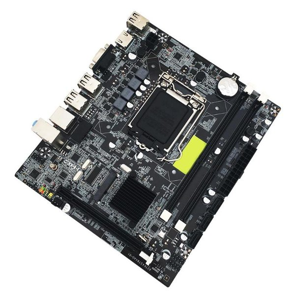 Motherboard computador DDR3 Mainboard para Intel H55 1156Pin Full Solid State Support substituir para CPU P55 I3 i5 i7 Series