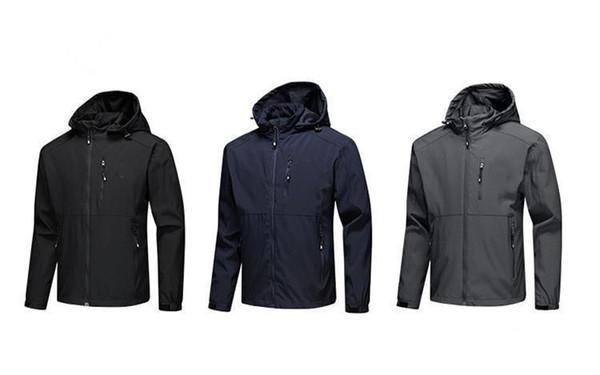 Yeni erkek tasarımcı ceketler Uzun Kollu rüzgarlık windrunner Erkekler Fermuar Su Geçirmez Ceket yüz kuzey Hoodie palto giysi