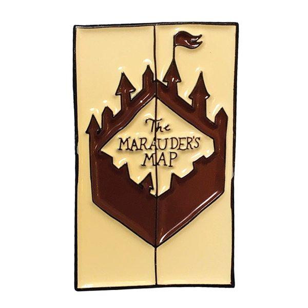 Mauraders mapa pin magia feitiço broche de bruxaria mapa broche de bruxaria Potter fãs acessório