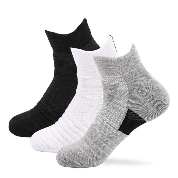 2019 Fashion Men Sports Socks Sweat-Absorbent Stocking Outdoor Towel Bottom Sock Short Tube Comfortable Socks Running Hiking Climbing M159Y