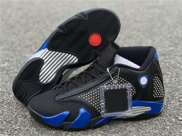 Novità Collaborazione 14 Black Varsity Reale Chrome di pallacanestro del Mens Designer Shoes migliore qualità viene con la scatola del doppio SizeUS7.5-13