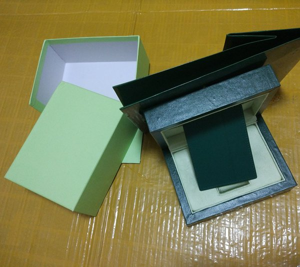 Free Shipping Top Luxury Watch Green Original Box Papers Gift Watches Boxes Leather bag Card 0.8KG For Rolex Watch Box