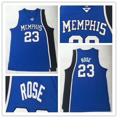 Mens Hottest Memphis Tigers Jersey Derrick # 23 Rose cosido lleno de baloncesto de la universidad Jerseys venta al por mayor de calidad superior S-2XL