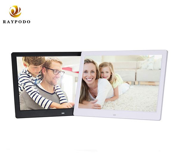 Raypodo 12 Inch led 1280 * 800 Resolution Full HD digital photo frame With Black And White Color