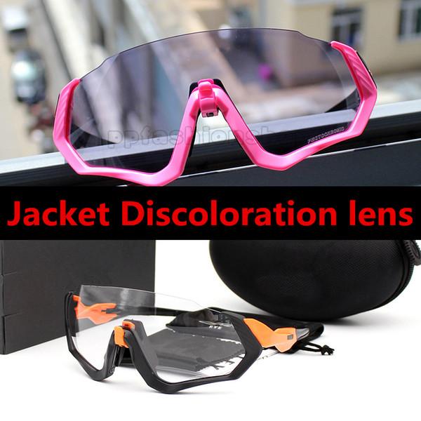 Новые FLIGHT Полукадровые спортивные солнцезащитные очки 9401 Велосипед Изменение цвета обесцвечивание езда очки MTT черный W prizm Road