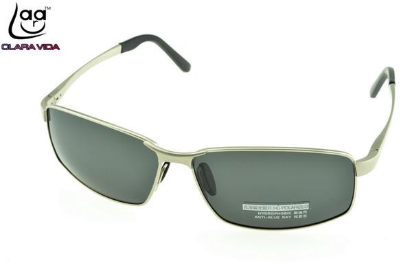 eec0e1185 clara Vida Marca = Al Mg Escudo Gafas de sol Para hombre Plata Por encargo