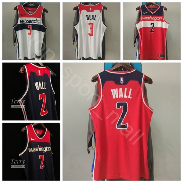 quality design e4787 aa31a 2019 Men Youth Women Printed Basketball Wizards John Wall Jersey 2 Bradley  Beal 3 Dwight Howard 21 Trevor Ariza Jeff Green Edition City Earned From ...