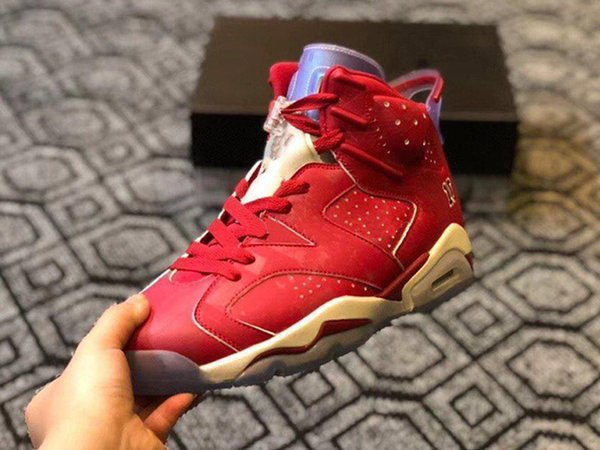 new style 615fd 0dcd6 Wholesale 2019 New Jumpman 6 VI Slam Dunk Red 6s Men Basketball Sports  Shoes Sneakers Hot Sale TRAINERS High Quality Size 40 47 Designer Shoes ...