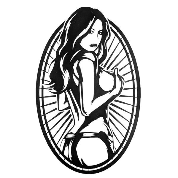 18*11.3cm Sexy Girl Tattoo Style Car, Laptop Permanent Decal Sticker Beauty Temptation Unique Vinyl Car Wrap