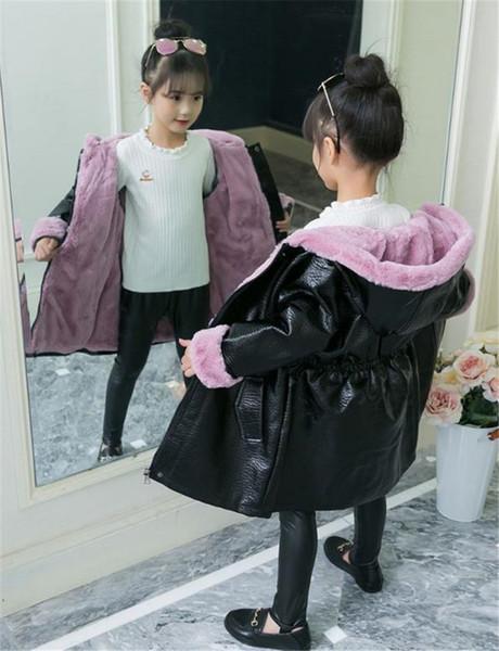 Girls' Fur 2020 nuova tendenza ispessito autunno e l'inverno Fashion Girls' Pink Rabbit imitazione del cappotto alla moda