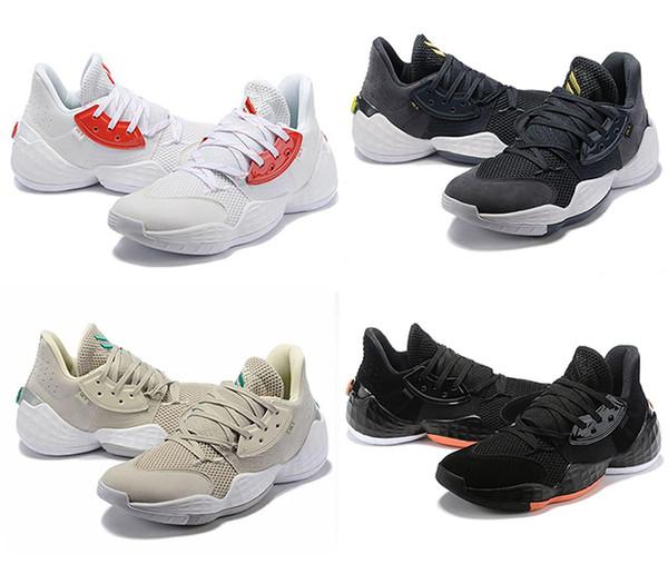 top popular HOT James Harden Vol.4 Basketball Shoes for Mens luxury Training black red MVP Sneakers Sports running shoes men designer shoes EUR 40-46 2019