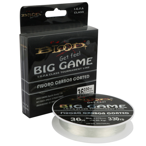 Goture BIG GAME 300M / 220M Fluorocarbon 10LB-62LB 0.16MM-0.6MM Fluoro Carbon Nylon Coated Cord Leader Line