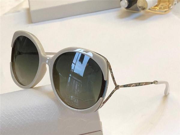 New Popular Sunglasses Women Designer LILA Trend Big Frame Sun Glasses Hollow Glasses Legs Pattern carving Eyewear VU400 Protection With Box