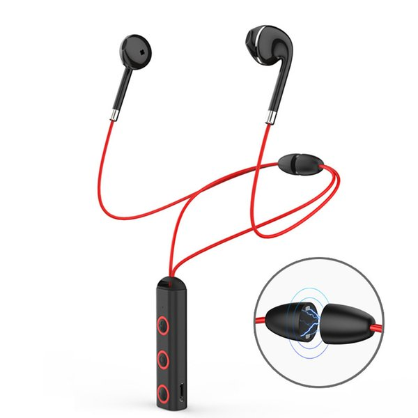 New BT313 Magnetic Bluetooth Headset Earphone Sport Running Headphone Bluetooth Earpiece With Mic Stereo Earbuds For all phone