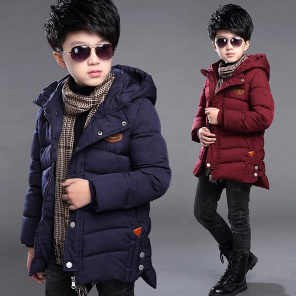 Winter Boy Coat Jacket Children Clothing Jackets For Boys Casual Hooded Warm Cotton-padded Baby Outwear Fashion Boys Parkas Children Clothing Jackets For Boys