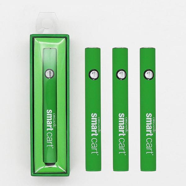 Organische Smart Cart 510 Thread vorheizen Vape Pen Batterie 380mAh variable Spannung Slim Green Vape Batterie für dicke Ölpatronen