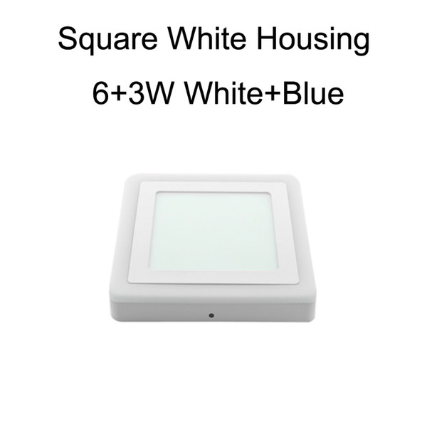 Square White Housing 6+3W White+Blue
