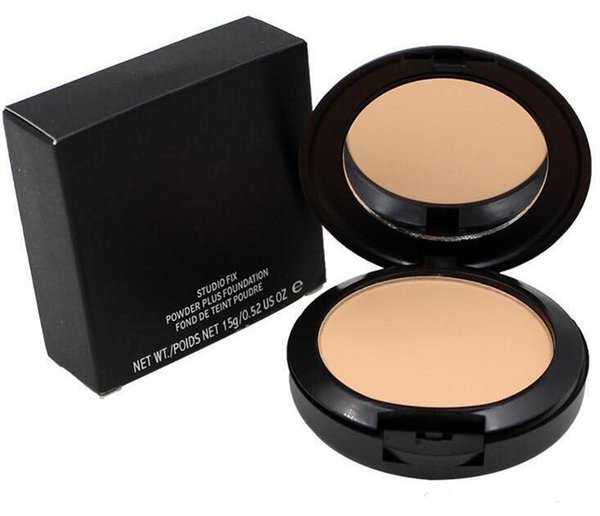 top popular NEW Makeup NC Colors Pressed Powder with Puff 15g Brand Beauty Cosmetics Pressed Face Powder Foundation Top Quality Gift 2021