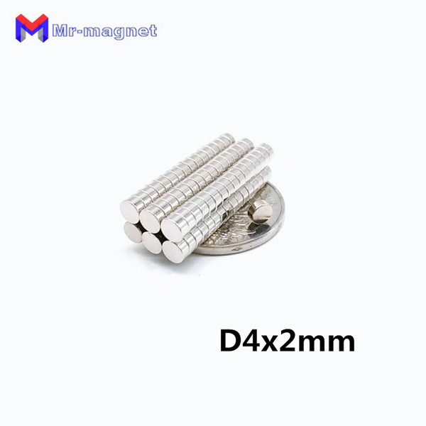 2019 imanes 100Pcs 4x2 Neodymium Magnet Permanent N35 NdFeB Super Strong Powerful Small Round Magnetic Magnets Disc 4mm x 2mm