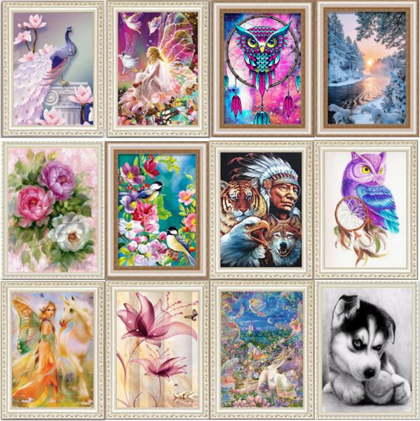 076d296b1d 5D Diamond Painting Kits Embroidery Cross Stitch kits living room mosaic  pattern 30X40 Home Decor BI241