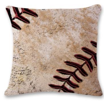 #7 Baseball Throw Pillow Case
