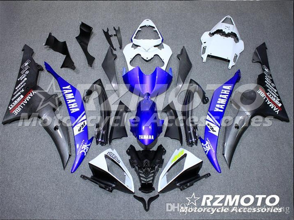 4 Free Gifts New Injection ABS Fairing kits 100% Fit for YAMAHA YZFR6 08 09 10 11 12 13 14 15 YZF R6 2008-2015 YZF600 set Black Blue KJ6