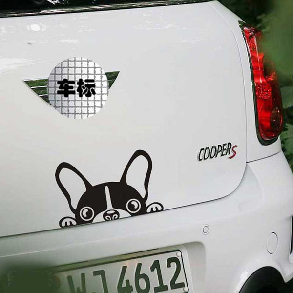 1PC Cute Dog Car Sticker Door Rear Cover Scratches Reflective Decal Sticker