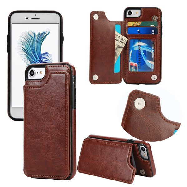PU Leather Cell Phone Case For IPx Samsung Galaxy S5 S6 S8 Cases Cover Multi Card Holders
