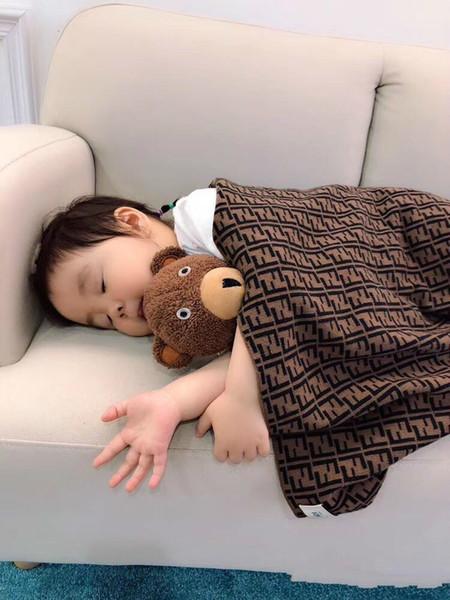 Nouveau style couette tricotée Swaddles bébé doux Newborn Couvertures bébé couverture poussette Wrap tapis de jeu Top 95x95cm