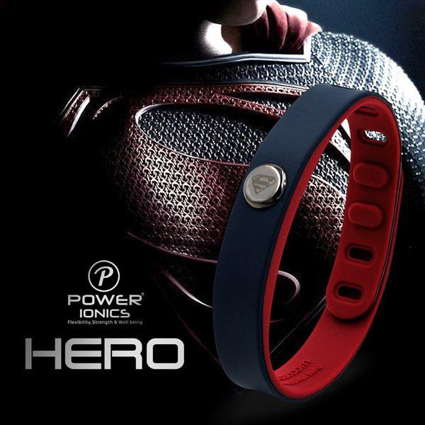 Power Ionics Hero Series Superman Idea Band 3000 Ions Sports Waterproof Titanium Healthy Bracelet Wristband Balance Body Y19051101