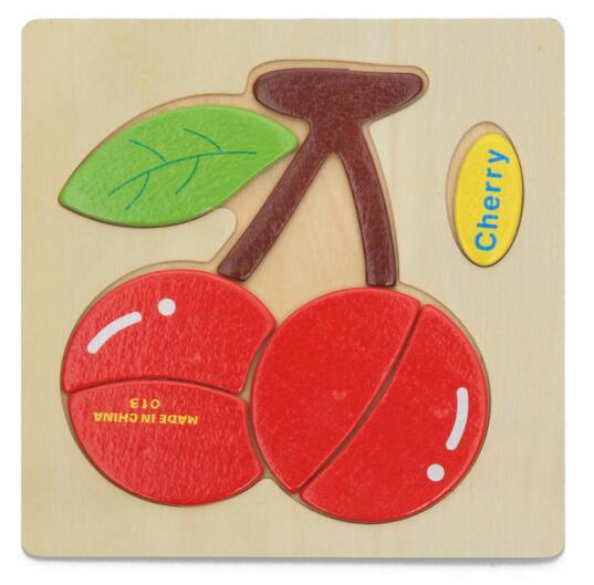 Jouets éducatifs en bois Animaux de ferme en bois Briques Enfants Bébé Puzzle Bois Jouet Jigsaw Artisanat Animaux Jouets Colorés