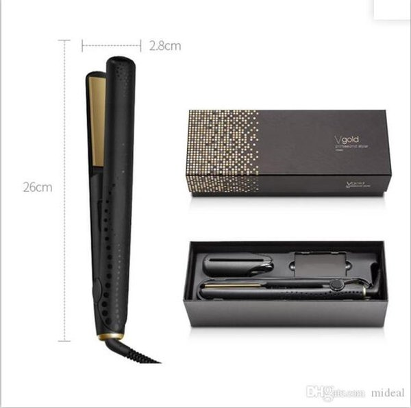 best selling Hot Professional Hot 9hd V Gold Professional hair straightener EU plug with retail box DHL fast ship In stock Hair Styling Tools