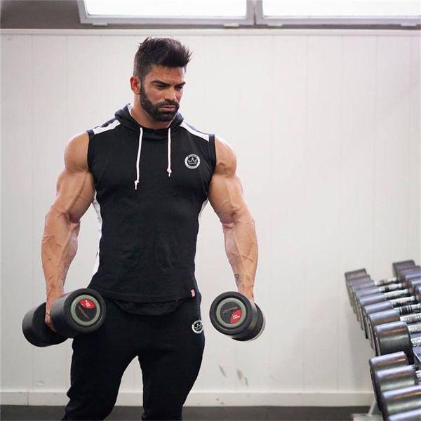 Hot 2018 Men Gyms Hoodies Gyms Fitness Bodybuilding Sweatshirt Crossfit Pullover Sportswear Mens Workout Hooded Jacket Clothing
