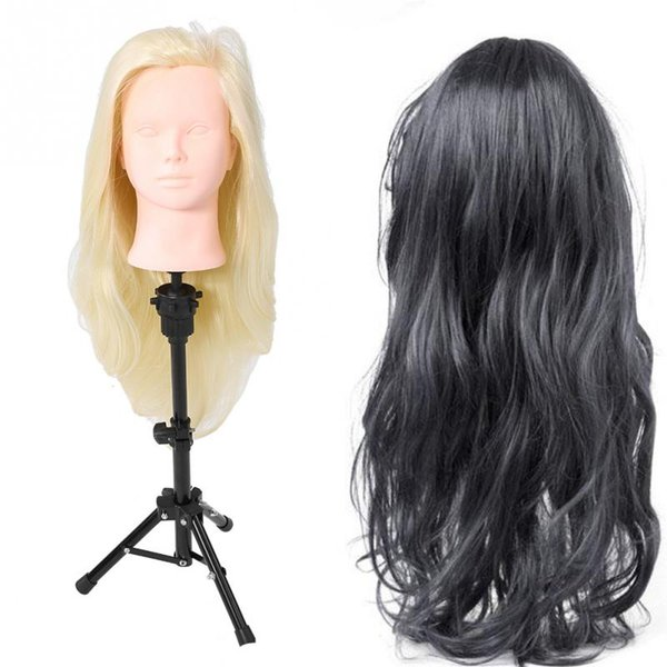 Mannequin Head With Hair Hairdressing Training Practce Dummy Dolls Barber Hairstyles Training Heads Hair Mannequin Head