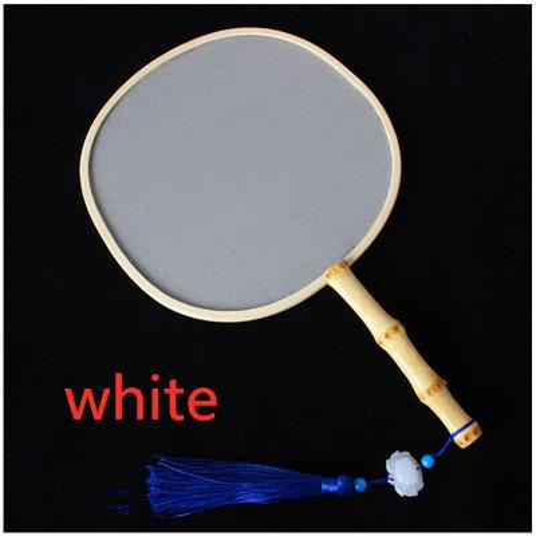 white bamboo handle