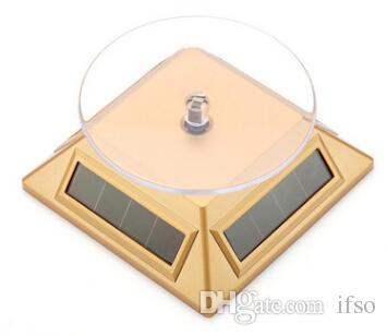 Jewelry Dispaly platform Exhibition Stand Solar Auto Rotating Display Stand Rotary Turn Table Plate For mobile MP4 Watch jewelry VIP Store