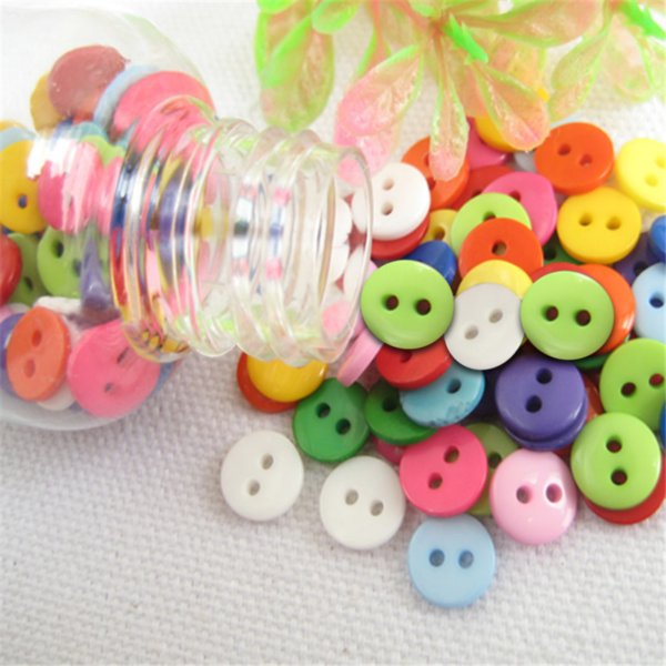 20/100Pcs Random mixed plastic button for kids sewing buttons clothes accessories crafts child cartoon button
