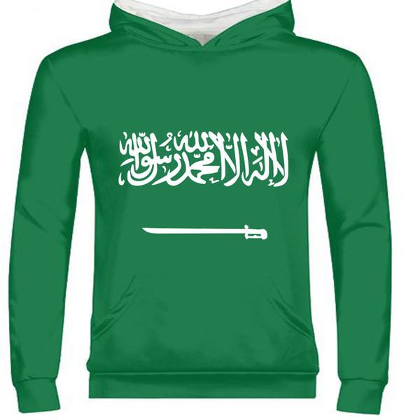 saudi arabia male custom name number sau zipper sweatshirt nation flag sa arabic arab islam arabian country print text clothes