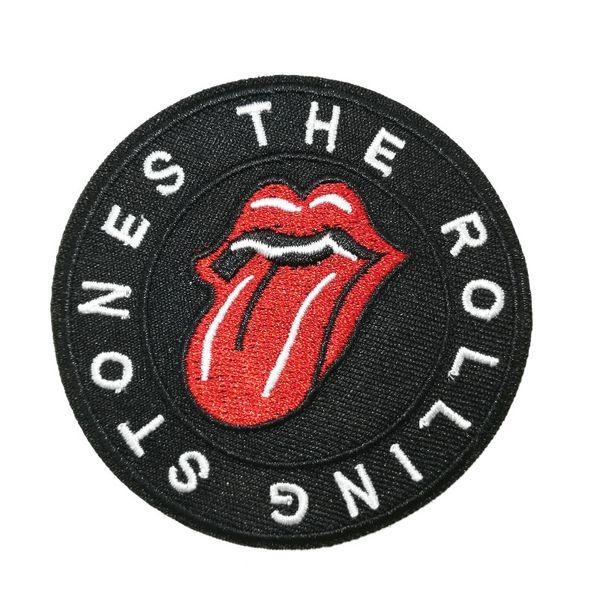 Die Rolling Stones Rockbandmusik Embroidered Iron On Patches zum Aufnähen von Applikationen