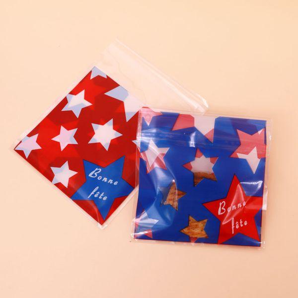 Sterne in rot und blau