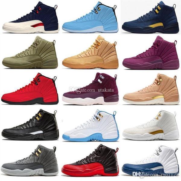 Yüksek Kaliteli Xii 12 12s Beyaz Gym Kırmızı Wntr Master ayakkabı erkekler Taksi Gribi Oyunu Fransız Mavi Cny Günlük Ayakkabılar Boyut 40 -47