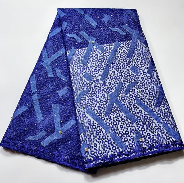 5 yardas Lote 2020 tela africana material del cordón de alta calidad de Nigeria Francés Net tela de encaje para el vestido de las mujeres