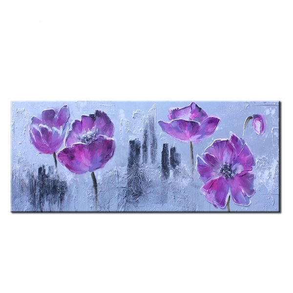Pure Handmade Abstract Watercolor Lotus red Flowers painting wall art picture for living room bedroom home decor Unframed
