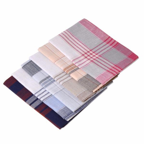 ocket hankies ciciTree 6pcs/set New Multicolor Square Stripe 100% Cotton Handkerchiefs 38*38cm Men Classic Pattern Vintage Pocket Hanky P...