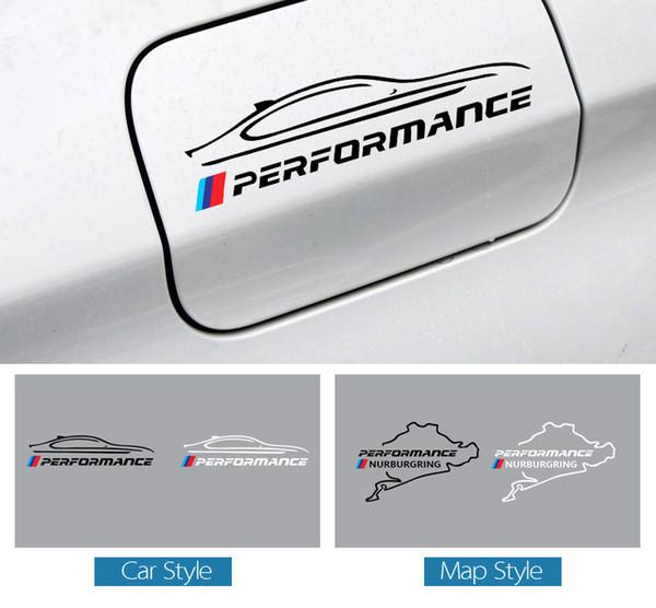 Bmw performance m autocollant de capuchon de réservoir d'essence de voiture de puissance Racing Road Nurburgring
