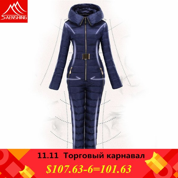 Free shipping New 2018 Winter Clothing Set Outerwear High Quality Ski Suit Women skiing Conjoined outdoor Female Down Ski Suits