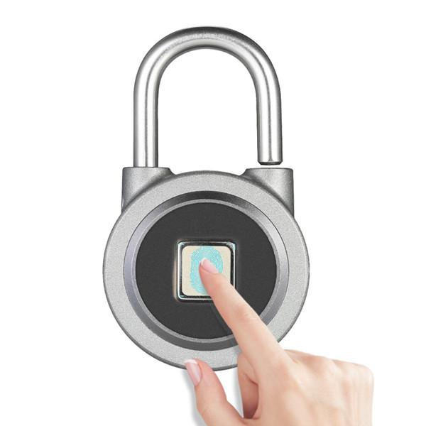 FB50 / O3 Smart Keyless Lucchetto per impronte digitali Pulsante AP Password sblocca lucchetto antifurto impermeabile per Android iOS 12pcs / l