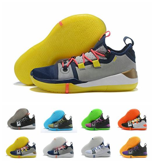 f037c5417610 With Box Kobe AD Mamba Day A.D. EP Sail Multicolor Mens Basketball Shoes  React Exodus Derozan Black Silver Purple Size 7 12 Baseball Shoes  Basketball Shoes ...